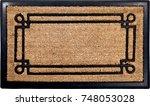 classic peach color doormat... | Shutterstock . vector #748053028