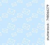 seamless vector evelopes pattern | Shutterstock .eps vector #748066279