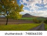 famous oblik hill in autumn... | Shutterstock . vector #748066330