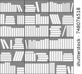 seamless background with books. ...   Shutterstock .eps vector #748076518