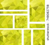 vector banners set with yellow... | Shutterstock .eps vector #748082758