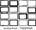 vector frames. rectangles for... | Shutterstock .eps vector #748085488