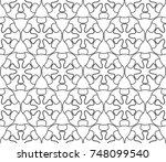 seamless geometric line pattern ... | Shutterstock .eps vector #748099540