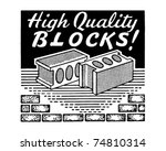 high quality blocks   retro ad... | Shutterstock .eps vector #74810314