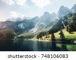 scenic image of great alpine...   Shutterstock . vector #748106083