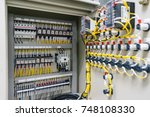 electric control panel... | Shutterstock . vector #748108330