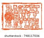 vector illustration orange... | Shutterstock .eps vector #748117036