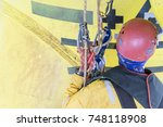 working at height. working... | Shutterstock . vector #748118908