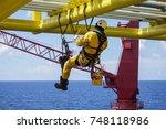 working at height. working... | Shutterstock . vector #748118986