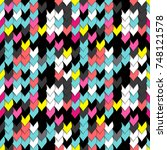 seamless abstract 3d... | Shutterstock . vector #748121578