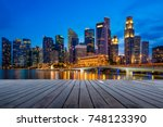 business downtown and... | Shutterstock . vector #748123390