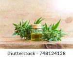 cbd oil hemp products   Shutterstock . vector #748124128