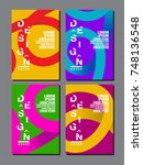 design template   abstract... | Shutterstock .eps vector #748136548