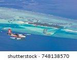 north male atoll  maldives  ... | Shutterstock . vector #748138570