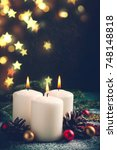 Christmas Card With Burning...
