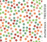 seamless simple stars pattern... | Shutterstock .eps vector #748150318
