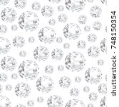 modern background with diamonds.... | Shutterstock .eps vector #748150354