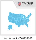 United States Of America Map...