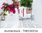 mykonos  greece | Shutterstock . vector #748156516