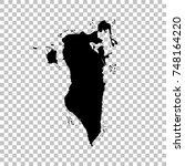 vector map bahrain. isolated... | Shutterstock .eps vector #748164220