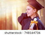 Graduation  Student Standing...