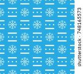 pattern seamless snowflake for... | Shutterstock .eps vector #748165573