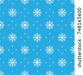 pattern seamless snowflake for... | Shutterstock .eps vector #748165600