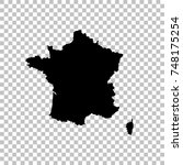 vector map france. isolated... | Shutterstock .eps vector #748175254