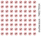 no drone zone pattern background | Shutterstock .eps vector #748175314