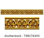 golden  ornamental segment  ... | Shutterstock . vector #748176343