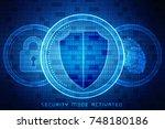2d illustration security...   Shutterstock . vector #748180186