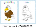 coloring book page for... | Shutterstock .eps vector #748183228