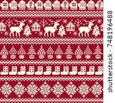 nordic pattern illustration | Shutterstock .eps vector #748196488
