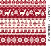 nordic pattern illustration | Shutterstock .eps vector #748196494