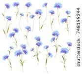 flower illustration material | Shutterstock .eps vector #748199344