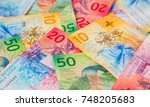 collection of the new swiss... | Shutterstock . vector #748205683