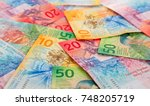 collection of the new swiss... | Shutterstock . vector #748205719