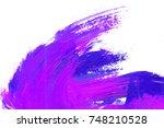 colorful oil art stroke design | Shutterstock . vector #748210528