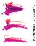 colorful oil art stroke design | Shutterstock . vector #748210540