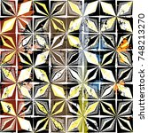 abstract geometric background... | Shutterstock .eps vector #748213270