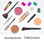 makeup must haves. basic... | Shutterstock . vector #748214164