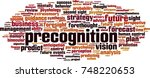 precognition word cloud concept.... | Shutterstock .eps vector #748220653