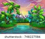 vector illustration for design. ... | Shutterstock .eps vector #748227586