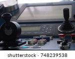 positioning control panel on a... | Shutterstock . vector #748239538