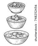 oatmeal illustration  drawing ...   Shutterstock .eps vector #748252456