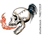 horrible skull  made in vector | Shutterstock .eps vector #748272319