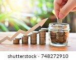 coins money saving increase to...   Shutterstock . vector #748272910