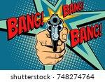 bang sound of a shot revolver...