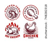 set chicken label for business... | Shutterstock .eps vector #748282318