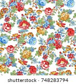 flower pattern | Shutterstock . vector #748283794